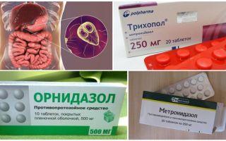 Cele mai bune medicamente pentru tratamentul giardiei la adulți