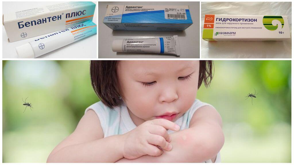 Unguentele utilizate la mușcăturile de țânțari la copii