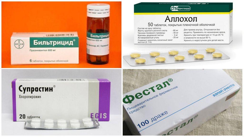 Tratamentul de opisthorchiasis