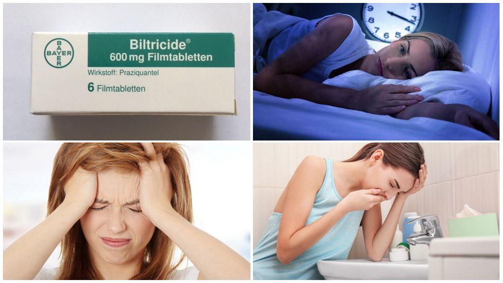 Efectele secundare ale tratamentului cu Biltricid